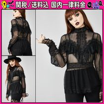DOLLS KILL Casual Style Long Sleeves Shirts & Blouses