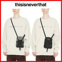 thisisneverthat Unisex Street Style Shoulder Bags