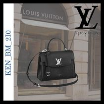 Louis Vuitton LOCKME 2WAY Leather Elegant Style Handbags