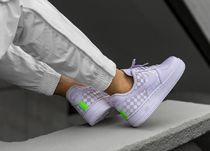 Nike AIR FORCE 1 Other Plaid Patterns Casual Style Street Style Leather