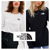 THE NORTH FACE Street Style Long Sleeves Plain T-Shirts
