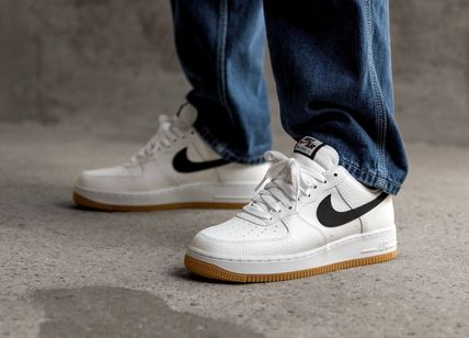 Nike AIR FORCE 1 2019 20AW Street Style Plain Leather Sneakers (CI0057 100)
