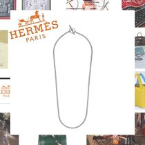 HERMES Chaine dAncre Silver Necklaces & Chokers