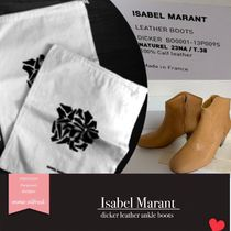 Isabel Marant Casual Style Plain Leather Ankle & Booties Boots