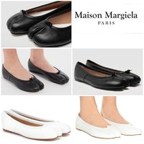 Maison Martin Margiela Tabi Plain Leather Elegant Style Pumps & Mules