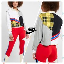 Nike Tartan Casual Style Street Style Bi-color Long Sleeves