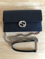 GUCCI GG Marmont Calfskin 2WAY Plain Shoulder Bags