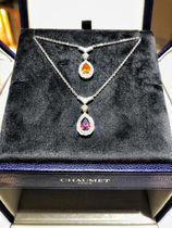 CHAUMET 18K Gold With Jewels Elegant Style Fine
