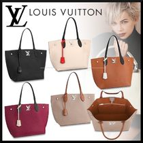 Louis Vuitton LOCKME Calfskin Plain Totes