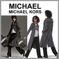 Michael Kors Monogram Medium Elegant Style Trench Coats