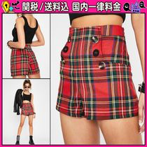 DOLLS KILL Short Other Check Patterns Casual Style Shorts