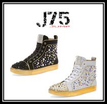 J75 by JUMP Faux Fur Street Style Plain With Jewels Sneakers