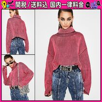 DOLLS KILL Short Stripes Casual Style Long Sleeves Oversized