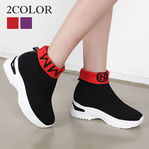 Wedge Round Toe Casual Style Street Style Wedge Boots