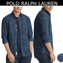 POLO RALPH LAUREN Camouflage Long Sleeves Cotton Shirts