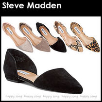 Steve Madden Casual Style Faux Fur Plain Other Animal Patterns Flats