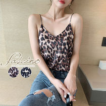 Leopard Patterns Casual Style Medium Elegant Style