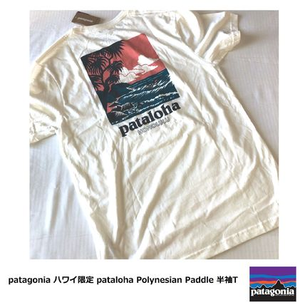 Patagonia Crew Neck Crew Neck Tropical Patterns Cotton Short Sleeves Logo
