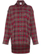 VETEMENTS Tartan Street Style Long Sleeves Cotton Shirts & Blouses