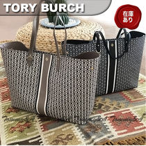 Tory Burch GEMINI LINK Casual Style PVC Clothing Totes
