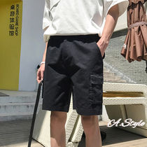 Plain Khaki Cargo Shorts