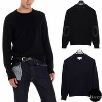 Maison Margiela Crew Neck Wool Long Sleeves Plain Designers Sweaters