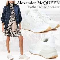 alexander mcqueen Rubber Sole Plain Leather Low-Top Sneakers