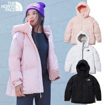 THE NORTH FACE Nylon Blended Fabrics Street Style Plain Long Parkas