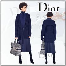 Christian Dior Casual Style Cashmere Blended Fabrics Long Sleeves Plain
