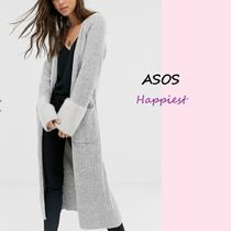 ASOS Casual Style Long Sleeves Plain Long Cardigans