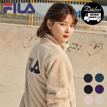 FILA Casual Style Street Style Plain Oversized Outerwear