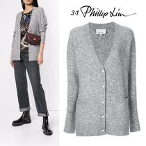 3.1 Phillip Lim Long Sleeves Plain Medium Elegant Style Cardigans