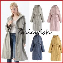 Chicwish Casual Style Plain Long Trench Coats