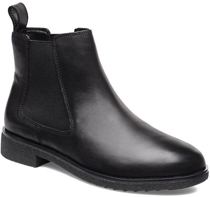 Plain Toe Leather Chelsea Boots Ankle & Booties Boots