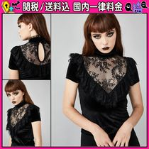 DOLLS KILL Casual Style Short Sleeves Shirts & Blouses