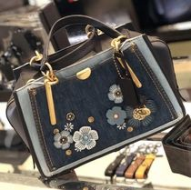 Coach DREAMER Flower Patterns Canvas Street Style 2WAY Plain With Jewels