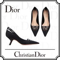 Christian Dior Plain Pin Heels Elegant Style Stiletto Pumps & Mules