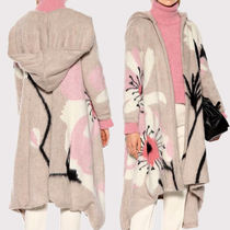 VALENTINO Flower Patterns Medium Oversized Front Button Coats