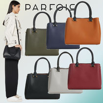 PARFOIS Casual Style Faux Fur 2WAY Plain Totes