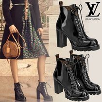 Louis Vuitton Casual Style Blended Fabrics Street Style Plain Block Heels