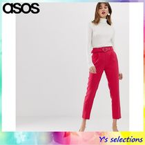 ASOS Casual Style Street Style Plain Long Cropped & Capris Pants