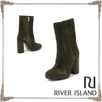 River Island Suede Plain Ankle & Booties Boots