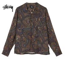 STUSSY Paisley Street Style Long Sleeves Shirts