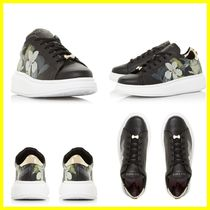 TED BAKER Flower Patterns Round Toe Rubber Sole Casual Style Leather