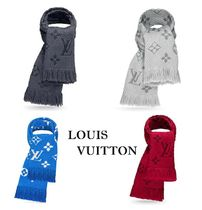 Louis Vuitton Monogram Wool Fringes Heavy Scarves & Shawls