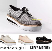 Steve Madden Blended Fabrics Plain Loafer Pumps & Mules