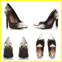 TED BAKER Flower Patterns Leather Pointed Toe Pumps & Mules