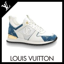 Louis Vuitton Monogram Rubber Sole Street Style Leather Low-Top Sneakers
