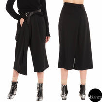 Maison Martin Margiela Plain Medium Oversized Elegant Style Cropped & Capris Pants