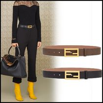 FENDI Casual Style Leather Belts